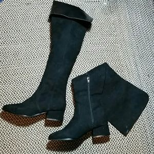 Forever 21      Black Knee High Boots 7
